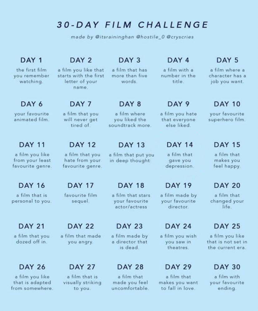 Film Twitter 30 Day Challenge
